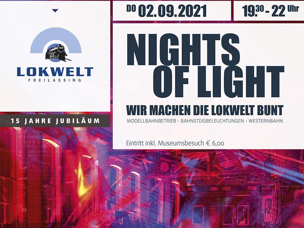 """""""Nights of Light"""" anlässlich 15 Jahre Lokwelt Freilassing"""